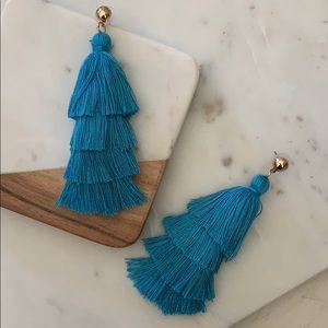 BOGO! Blue Layered Tassel Earrings